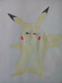 creepy pikachu by TherealLevelZ