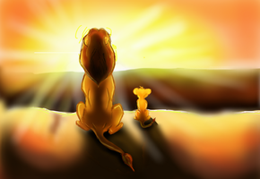 Lion King- Everything the light touches by AnnieIsabel