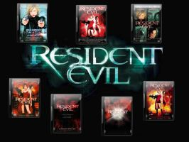 Resident Evil DVD Case Icons by gandiusz