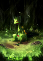 Sceptile by 9tailsfoxyfoxy