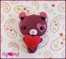 Sweetheart Bear Feltie by SailorMiniMuffin