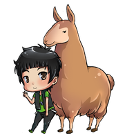 ichan with llama by ichan-desu