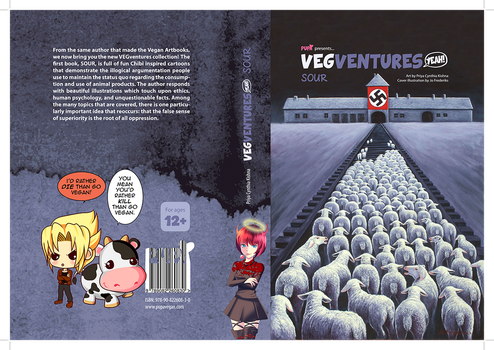 Cover and back cover VEGventures SOUR - Finished by Pupavegan