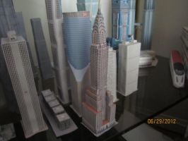 Chrysler Building Papercraft side view by Odolwa5432