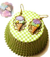 Classy Ice Cream Earrings by colourful-blossom