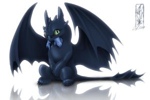 Toothless ...shiny by Lizkay