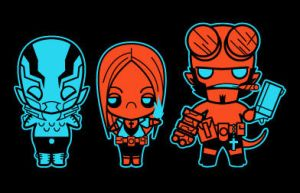 chibi hellboy by marisolivier
