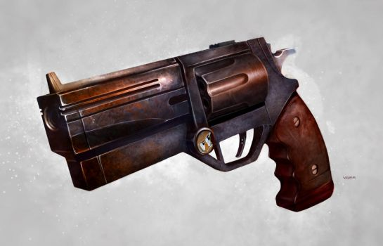 Concept Art Tutorial: Rugged Revolver by CGCookie