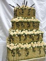Bamboo Wedding Cake by forgetmmenot