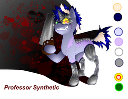 Prof. Synthetic reference sheet by DayDreamerPony