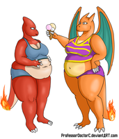 COMMISSION: Charmeleon - Charizard WG part 1 of 8 by ProfessorDoctorC