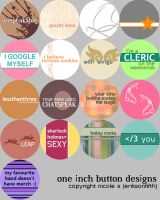 One Inch Button Designs by eriksonfifth
