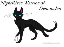NightRiver of Demonclan by Cristal-Soul