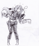 Request - OC Roxanne and Claire Redfield by Lil-Chilo