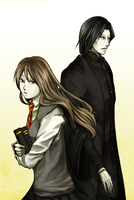 Commish: Hermoine and Snape by Usakan