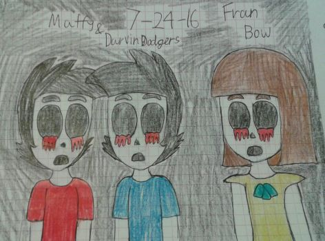 Darvin Maffy the humans and Fran bow  by Mariascurra