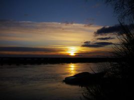 High Water Sunset by Marilyn958