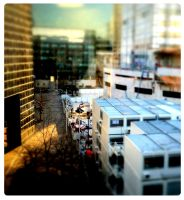 tilt shift city by fifoux