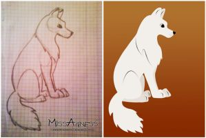 Vector Dog or Wolf by MissAgness