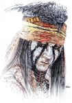 Johnny Depp as Tonto ( The Lone Ranger) by Anna655