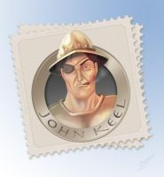 Discworld - John Keel Stamp by tabu-art