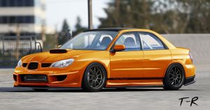 Subaru Impreza orange by TangoRhosgad