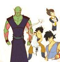 DBZ Sketches by FreakingArG