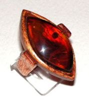 Ring 7 - Amber and Wood by AmberSculpture