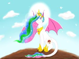 Dragon Pony Celestia by Doragoon