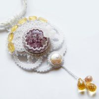 Touch of Lavender - wedding pastel necklace by Sol89