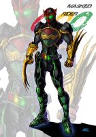 masked rider OOO by lanbow2000