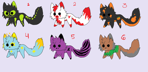 Halloween Adopts by Nightshadow-Horus