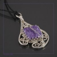 Purple drop Filigree by craftal