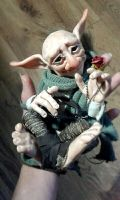 SOLD Troll Fae Poseable Art Doll by FaunleyFae