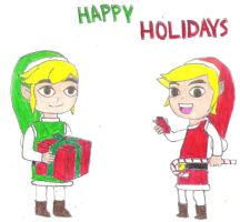 Happy Holidays From 2 Links by LuigiYoshiU
