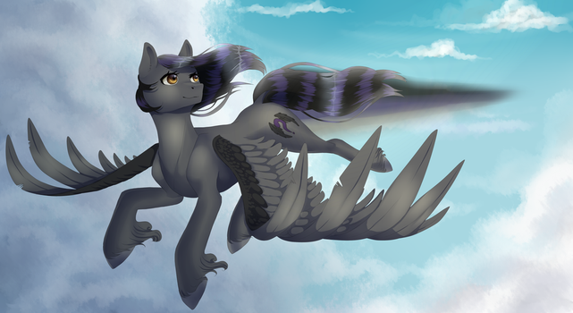 finished YCH 'Flying pony' by Maria-Fly