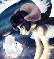 Stars are really Fat Fluffy Angel Sheep by Lapres