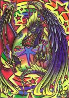 Rainbow Raver Dragon by FrostDragon89