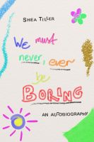 Book cover: Never be boring by Windflug