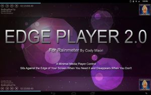 Edge Player 2.0 for Rainmeter by CodyMacri