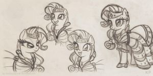 Rarity gala dress sketches by KP-ShadowSquirrel