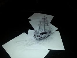 Sailing - 3D Drawing by Kerle3