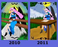 Haniel Changes 2009-2011 by StarlightMemories