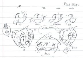Drawing a simple head - TUT by tei
