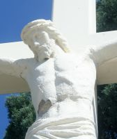 Mount Olivet Cemetery Crucifixion 4 by Falln-Stock