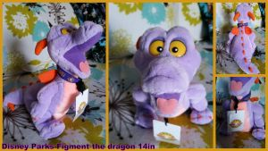 Disney Parks Figment the Dragon 14in by Vesperwolfy87