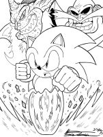 Sonic #5 Set1 (LINEART) by MrTumminia