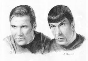 Catain Kirk and Spock by ktalbot