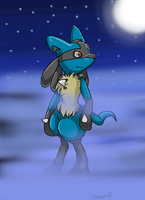 +_Lucario_+ by Sandy-the-echidna