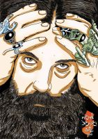 Alan Moore by rhough
